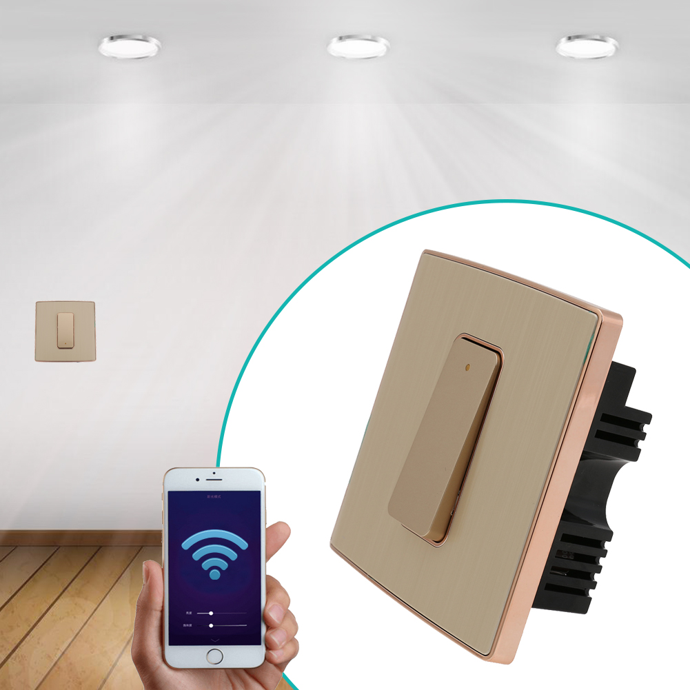 2 Channel Wifi Switch Universal Home Automation Wall Wireless Timing Switch Remote Control Phone APP For Smart Home light one channel control switch for smart home ceiling led bulb remote control wireless wall light switch