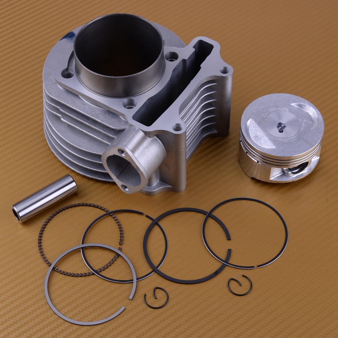 DWCX Moto 61mm Cylindre Piston e-ring Joint 12 pièces Kit adapté pour GY6 125CC 150CC Scooter ATV