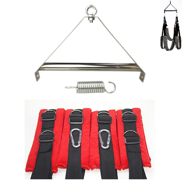 Sex Products Red Adult Sex Swing Tripod Erotic Toys,Luxury Love Swing Chairs,Fetish Columpio Sex Toys,Swing Sex Furniture