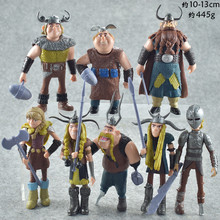 цена на 10 -13 Cm Train Your Dragon 2 Doll Ornaments 8 -piece Set Of A Film Model Hand To Make The Toys Doll