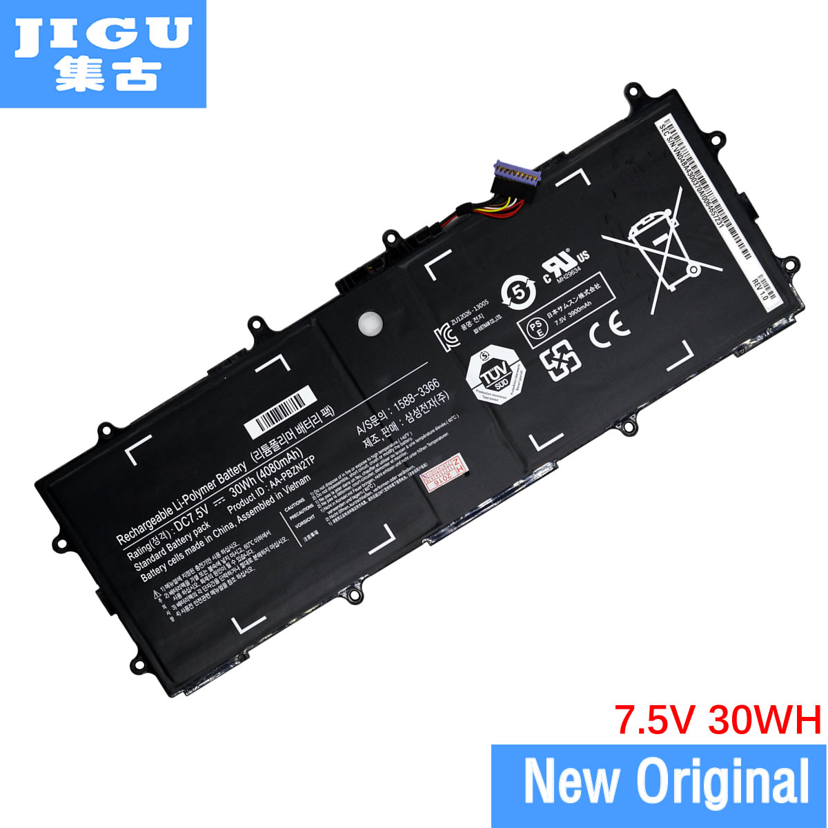 JIGU AA-PB2N2TP AA-PBZN2TP Originalbatteri batteri för SAMSUNG 905S3G 910S3G 915S3G XE303C12 för Chromebook 2 3 30WH