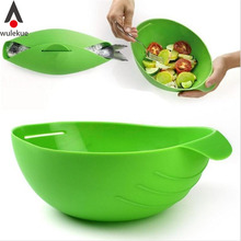 Wulekue Kitchenaid Microwave Oven Steamer Soft-Paste Silicone Folding Bowl Baking Fish Steam Roaster Bread Food Cooking Tools