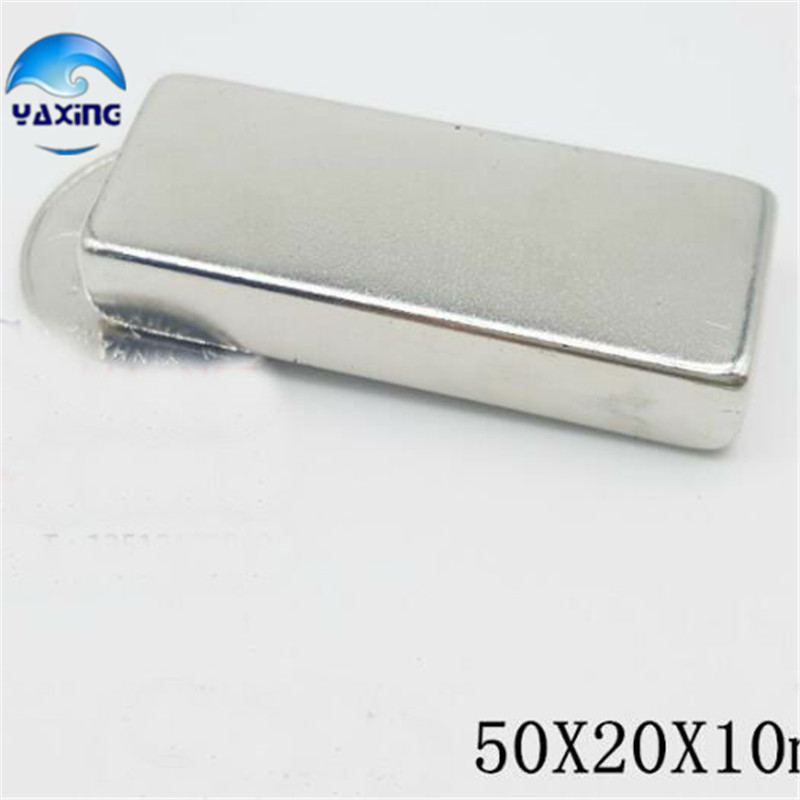N52 magnet 1PCS 50 x20 x10mm Super Strong Rare Earth Permanet Magnet Powerful Block Neodymium Magnets 80x60x7 block magnet 80x60x17mm with hole magnet n48 magnet permanet block powerfull magnet free shipping