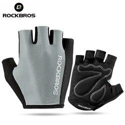 Rockbros Fietsen Handschoenen Fiets Sport Ademende Handschoenen Professionele Racefiets Apparatuur Half Vinger Spons Pad Unisex Handschoenen