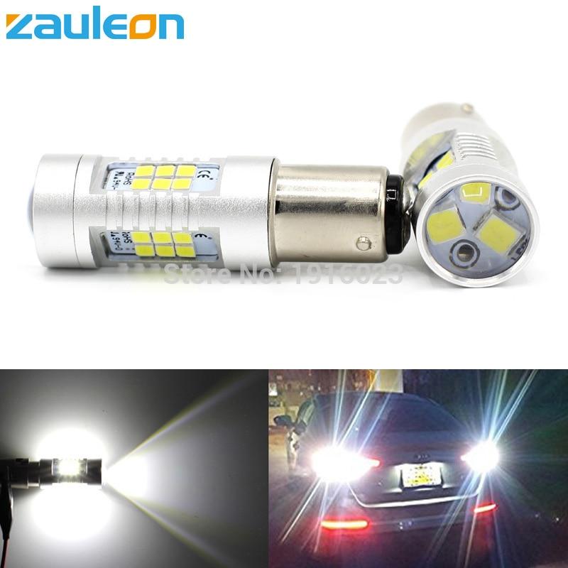 Zauleon 2шт s25 обратные 1157 BAY15D Р21/5W светодиодные 988 люмен желтый/красный/белый высокой мощности СИД DRL Обратный свет Репроектора Сид автомобиля света