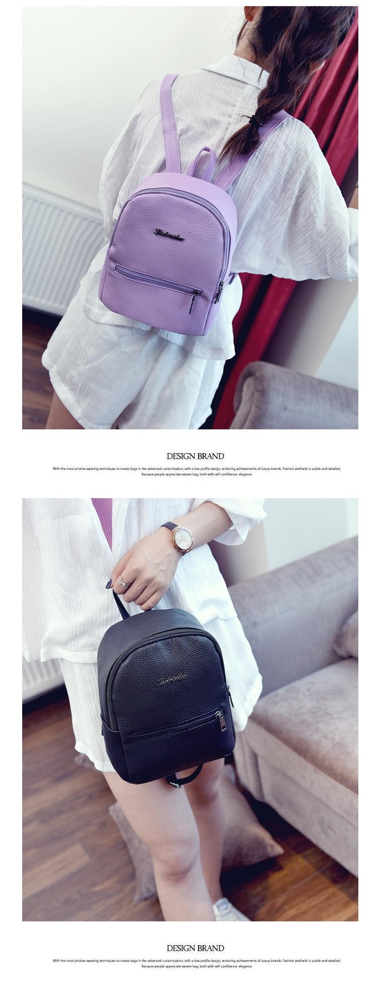 HTB1I9Hhm77mBKNjSZFyq6zydFXaO 2019 New Backpack Summer Small Women Backpack Candy Color Student Travel Shoulder Bags Teenager Girls Female Mochila Bagpack