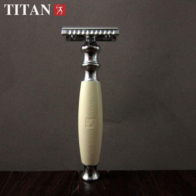 Двухместный лезвийный классический лезвийный парикмахер бритва титан