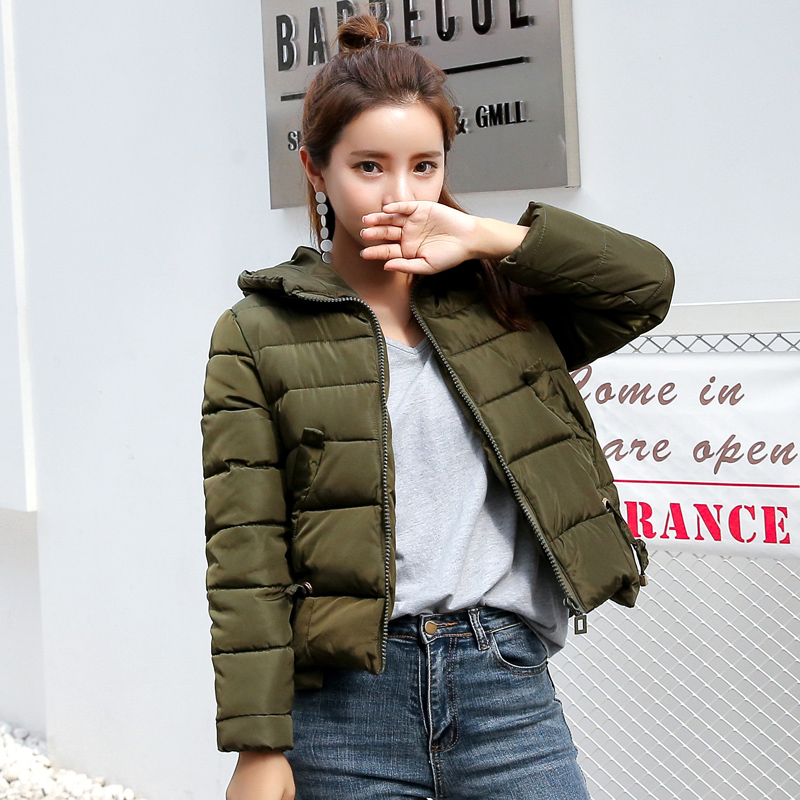 2017 Winter Jacket Coat Women Parka Hooded Short Outerwear Ladies ...