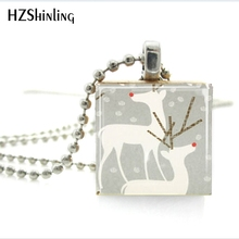 Buy scrabble tile pendant and get free shipping on aliexpress cr52 christmas deer jewelry red nosed reindeer scrabble tile pendant with ball chain necklace included mozeypictures Gallery