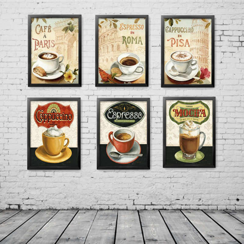 Bar Kitchen Decoration Posters Cooking Noodle Coffee Foods Canvas Painting Hd Print Wall Art Picture For Living Room No Framed