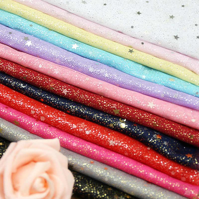 ... Width 150cm 1M Glitter Fabric Gradient Tulle Stage Wedding Party Tutu  Skirt Sequin Star Decoration Mesh ... 0036ae2931c5