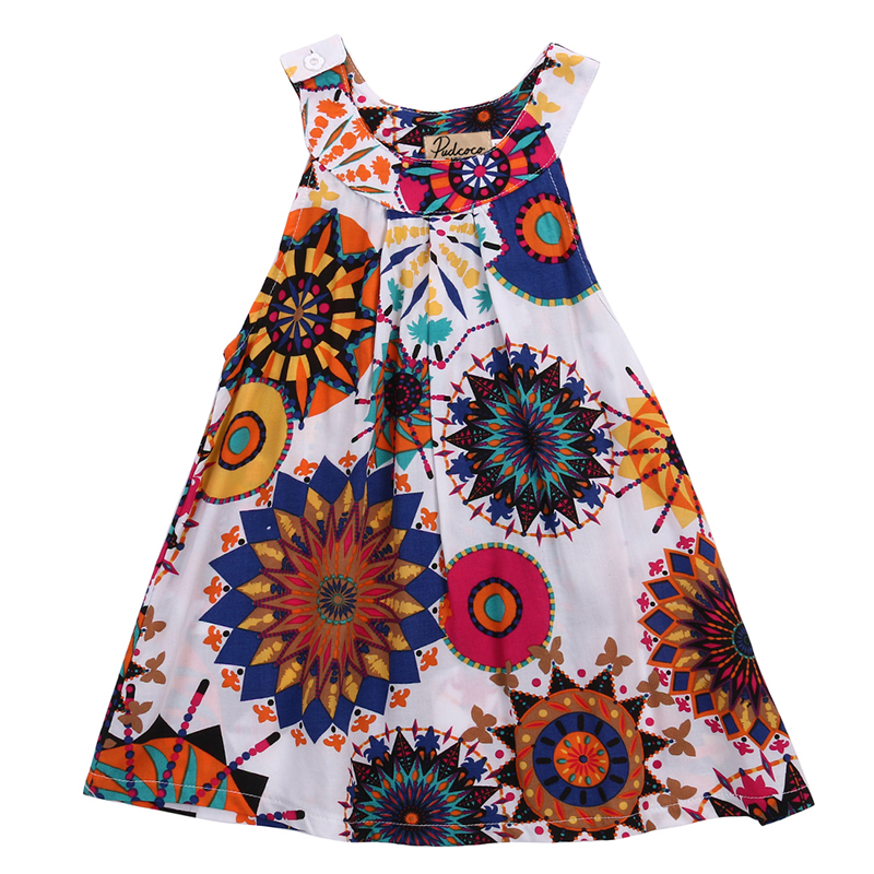 3 8Y Toddle Kids Clothes Summer Girls font b Dress b font Sleeveless Floral Princess Party