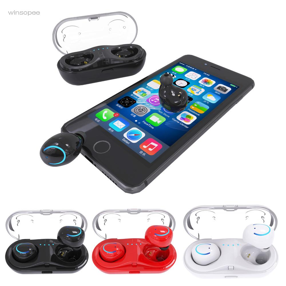 Mini New TWS Q18 Hearphone Bluetooth 4.2 Wireless Waterproof Bluetooth Headset Stereo HiFi Earphone winsopee цена 2017