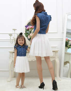 Mother Daughter Dresses 2020 Summer Family Clothing Mom and Daughter Dress Family Matching Outfits Dress for Kids and Women