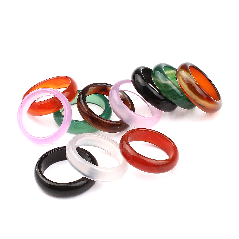 Natural Green Multicolour Ring Jewelry Semi Precious Stone