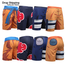 Z נארוטו אנימה קוספליי קיץ חוף מכנסיים גברים דירקטוריון יבש בגד ים בגדי ים ים בריכת מכנסיים