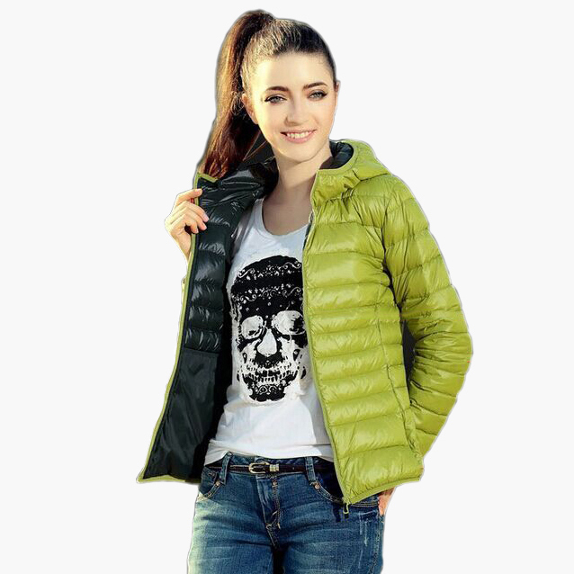 New 2018 Chaquetas Mujer New Fashion Women Jackets Hooded Candy Color Casaco Feminino Black/Red/Blue/Coffe/Light Green XS-XL