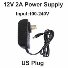 Hot 12V2A good quality Power supply adapter US plug for CCTV camera IP camera and DVR,AC100-240V to DC12V2A Converter adapter