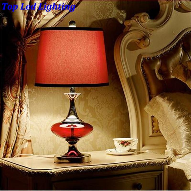 Moderna modna crvena staklena tkanina E27 Dimmerabla stolna - Unutarnja rasvjeta - Foto 4