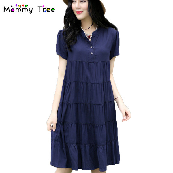 Cotton Maternity Dresses For Pregnant Women Summer Short Sleeved Loose Pregnancy  Clothes Maternity Wear Clothing