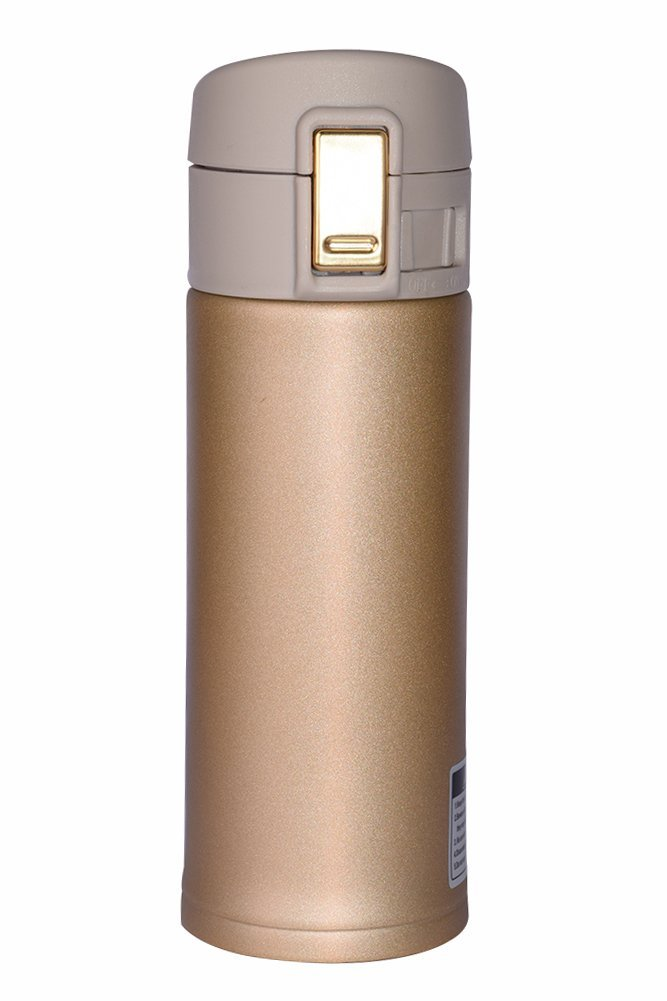 Wholesale Stainless Steel Mug Vacuum Thermos for Home Travel Hiking Yoga with Coffee or Tea 12 oz Vacuum Flask Champagne Gold