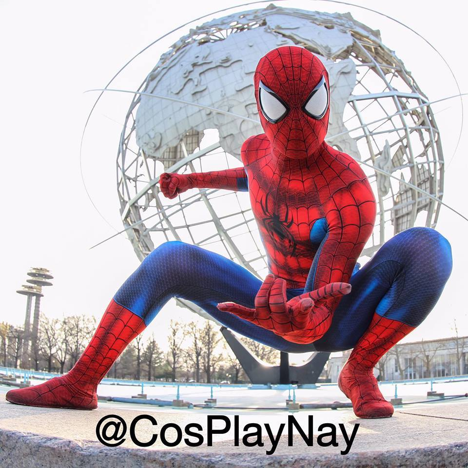High Quality 3D Printing Custom Made Spiderman font b Suit b font For Holloween and Party