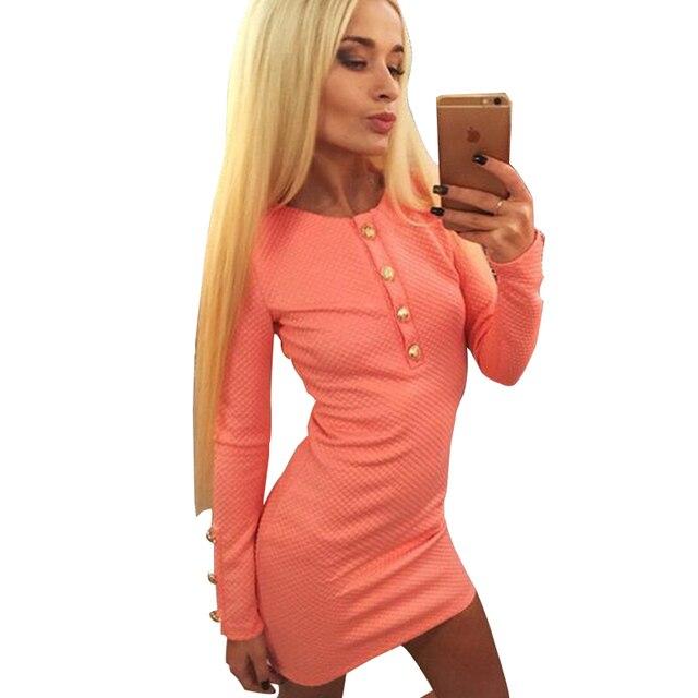 3 цвет Осени Зимы Женщины Платье Мода Sexy О-Образным Вырезом С Длинным Рукавом Мини Повседневные Платья LLYS7902