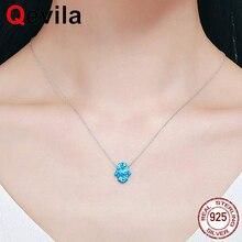 5debe7324192 Qevila joyería fina mano de hamsa de Plata de Ley 925 Collar de plata de  cristal de ópalo colgante de collar para las mujeres en.