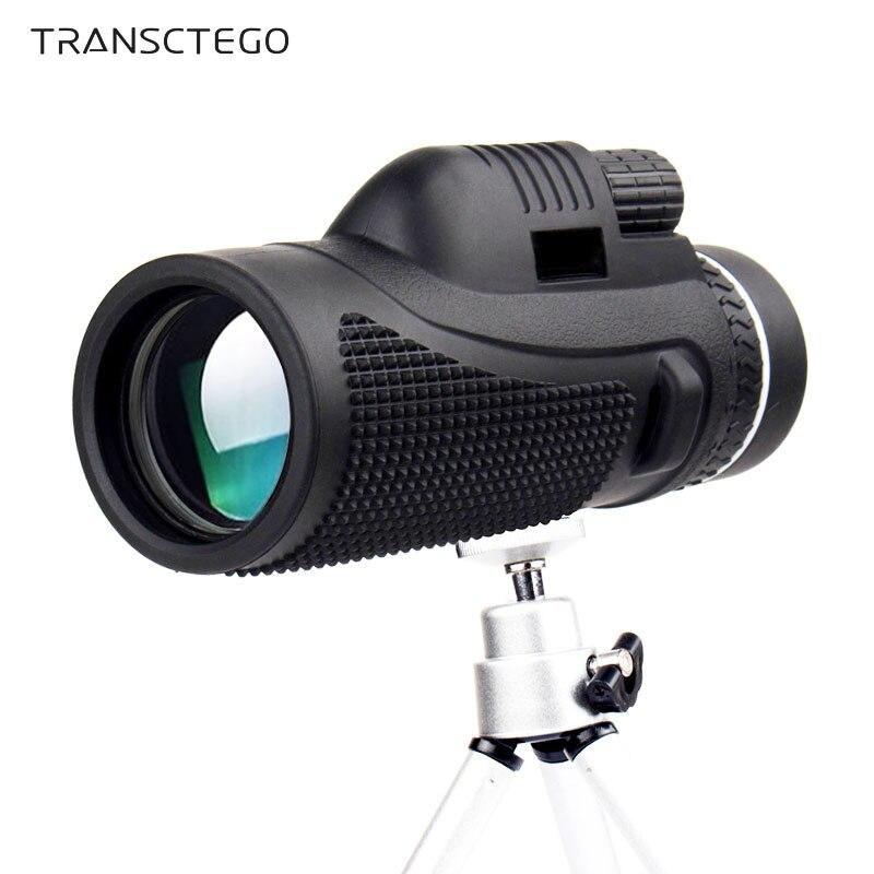 hd camera telescopio monocular 40x60 visao de alta potencia bak4 zoom qualidade portatil aves assistindo caca