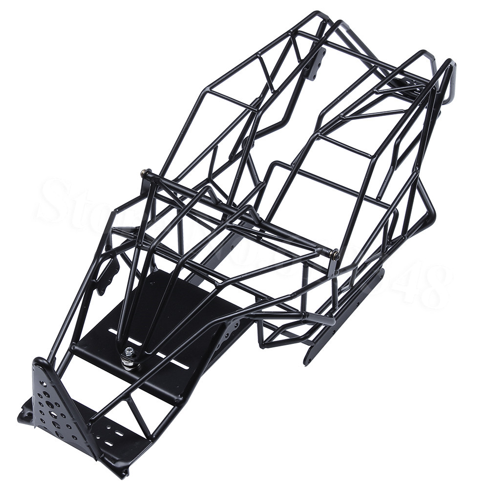 все цены на Steel Chassis Roll Cage Frame Body with ESC Mount Plate for 1/10 Axial Wraith 90018 RC Truck онлайн