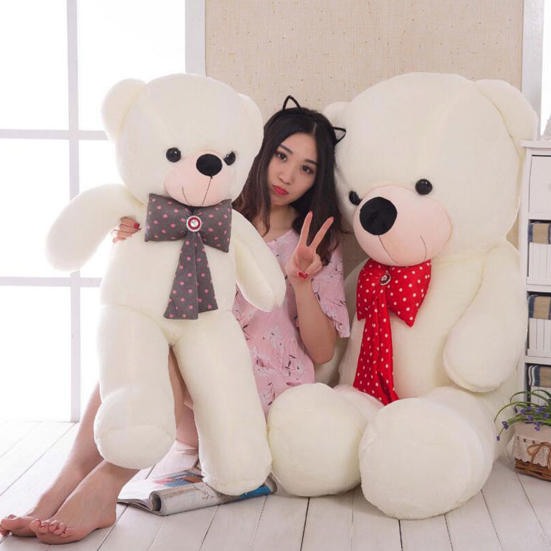 Soft Teddy Bears Plush Toys 160cm Teddy Bear Plush Doll Toys Animals Bear Children's Gift Kids Stuffed Toys For Girfriends Gift kawaii 140cm fashion stuffed plush doll giant teddy bear tie bear plush teddy doll soft gift for kids birthday toys brinquedos