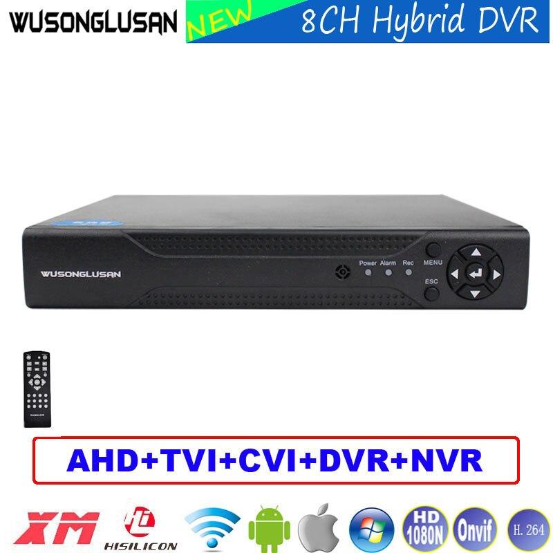 8-канальный цифровой видео Регистраторы 8CH AHD DVR 1080N 960 P 720 P 960 H 6 в 1 NVR TVI CVI DVR P2P для видеонаблюдения камеры видеонаблюдения для дома