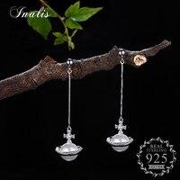 INALIS 925 Sterling Silver Pearl Drop Earrings With Luxury Zircon Elegant Romantic New Design Fine Jewelry