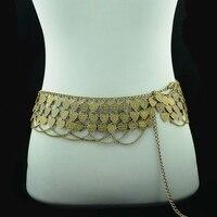 Multilayer Vintage Verzilverd Metalen Hart Buik Ketting Hippie Gypsy Shimmy Riem Buik Ketting Lichaam Ketting Femme Sieraden 112 cm
