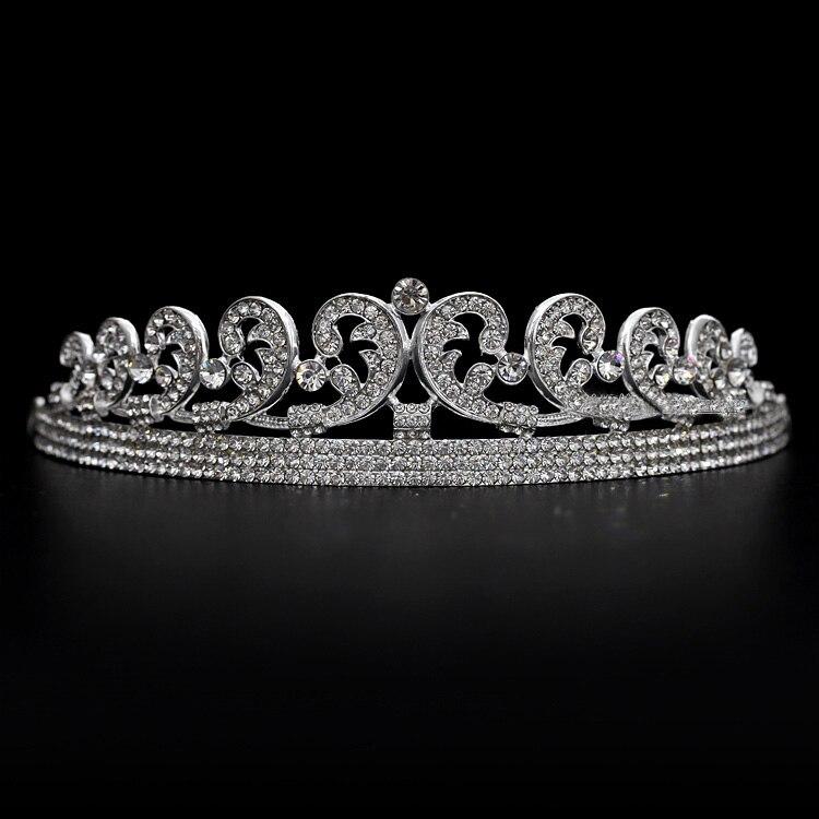 Bridal Tiaras Hair Crown Vintage Wedding Head Jewelry Accessories Frontlet Tiara