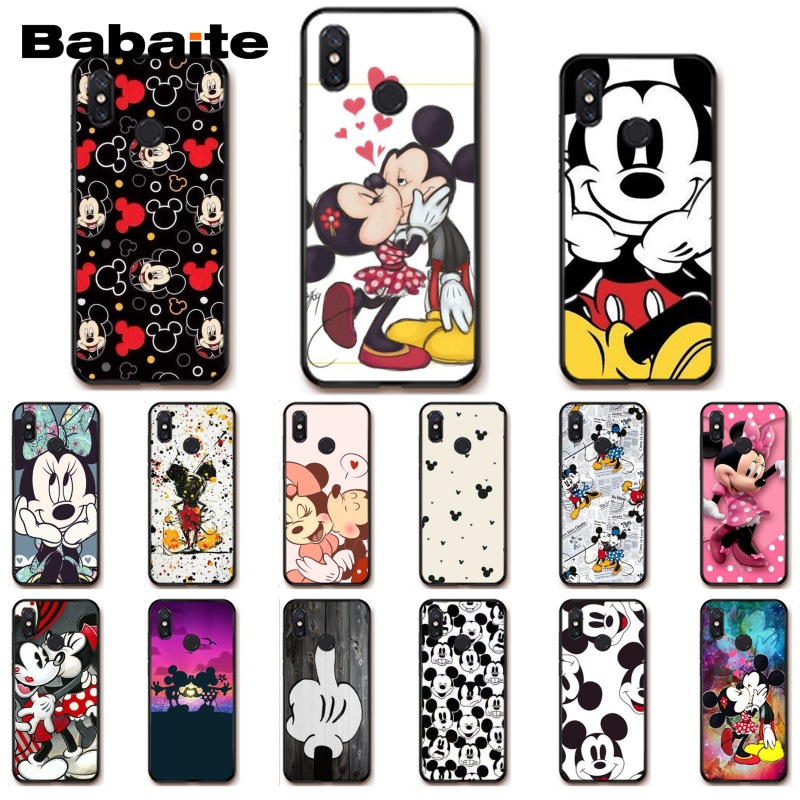 Babaite Kissing Liebhaber Mickey Minnie Maus Telefon Fall für <font><b>Xiaomi</b></font> MiA1 A2 lite F1 Redmi 4X 5Plus S2 Note7 redmi Note4 image