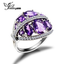 10 STONE FLOWER WREATHS AMETHYST RING* Real Stable 925 Sterling Silver*Luxurious Romantic Rings For the gentlewoman-Greatest Reward