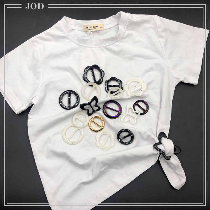 20mm 25mm 30mm koło klamra na ubrania szalik regulacja klamra T-shirt odzieży akcesoria węzeł Tri-przesuwa się po drutu gięte na pasek