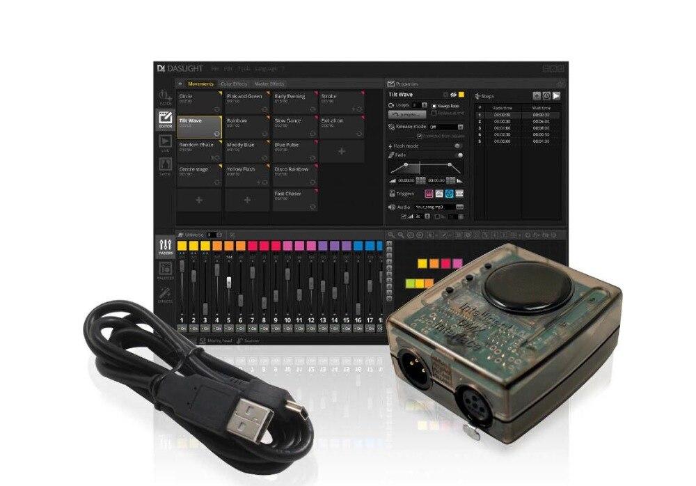 Rasha Heißer Verkauf Leistungsstarke 5 V DC 1024CH Dashlight DMX Controller Unterstützung...