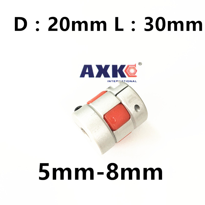 CNC jaw spider Coupler 5mm*8mm shaft Coupling 5mm to 8mm D20mm L30mm