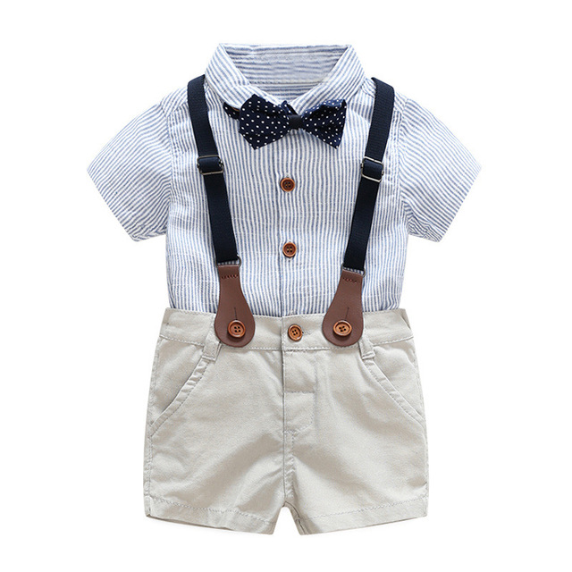9c801bb4058 baby boys clothes for summer 1 2 3 years kids Wedding dress handsome boy  clothing set