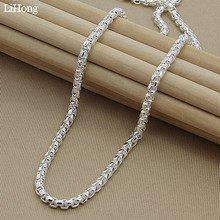купить Classic Silver Jewelry Round Box Necklace Men And Women Fashion Popular Wedding Party Jewelry Gifts Free Shipping дешево