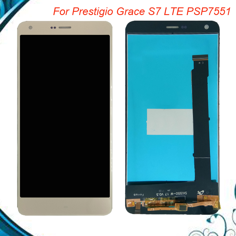For Prestigio Grace S7 LTE PSP7551 psp 7551 Duo psp7551Duo LCD Display + Touch Screen Digitizer Panel Sensor Lens Glass Assembly