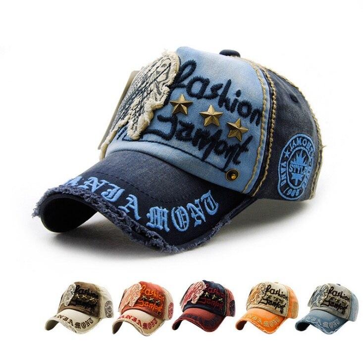 2017 estate unisex cappellini casual lettera regolabile outdoor mens berretti Da Baseball cappello da sole berretto da baseball delle donne del foro rotto grigio blu