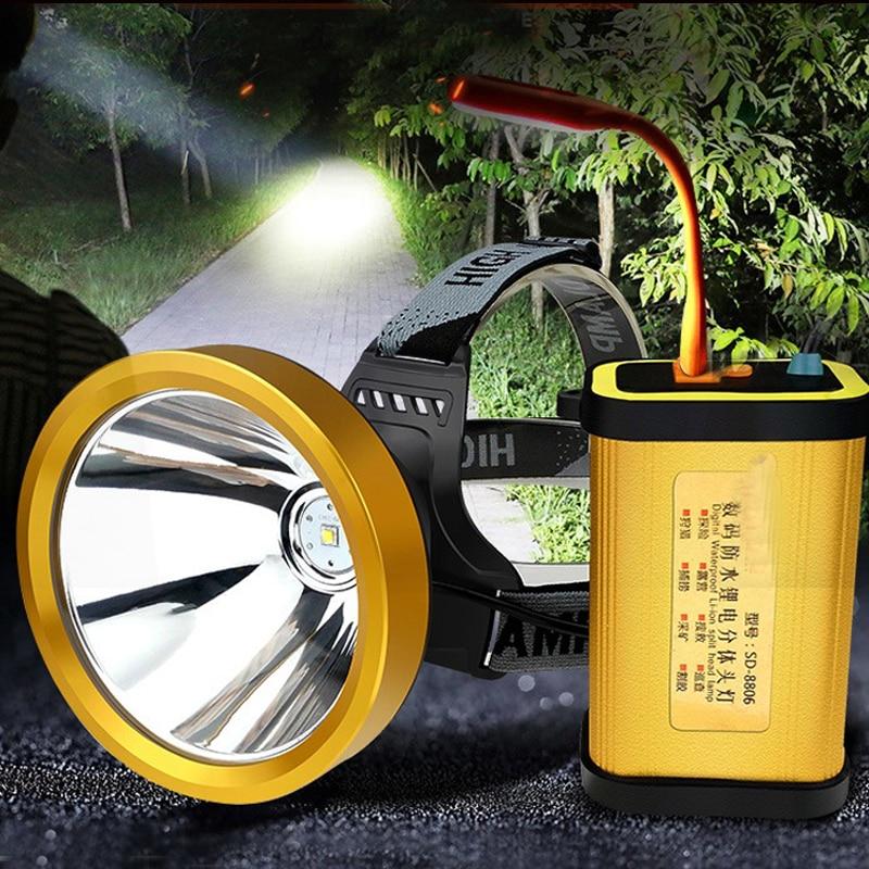 Highpower Portable Lighting  Led Usb Headlamp Cree L2 Headlights Rechargeable Lighting Camping Lantern For Hunting Lighting