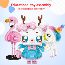 New Diamond Blocks Assembly Anime Action Figure Kawaii Mini Micro Building Blocks Bricks Diy Educational Toys for Children Gift
