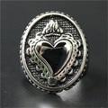 1 pc polimento amor coração anel aço inoxidável 316L Punk estilo mais novo presente para amantes anel