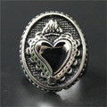 1pc Polishing Love Heart Ring 316L Stainless Steel Punk Style Newest Gift For Lovers Ring