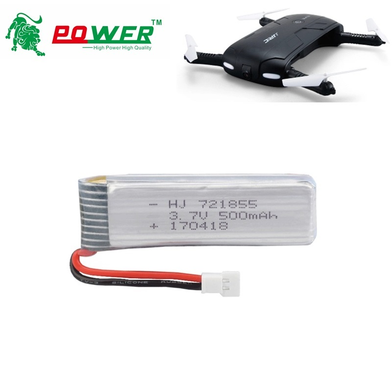RC Camera Drone Battery For JJRC H37 E50 RC Quacopter Spare Parts Accessories 3.7V 500mAh Li-po Battery 721855 For 3.7V BATTERY