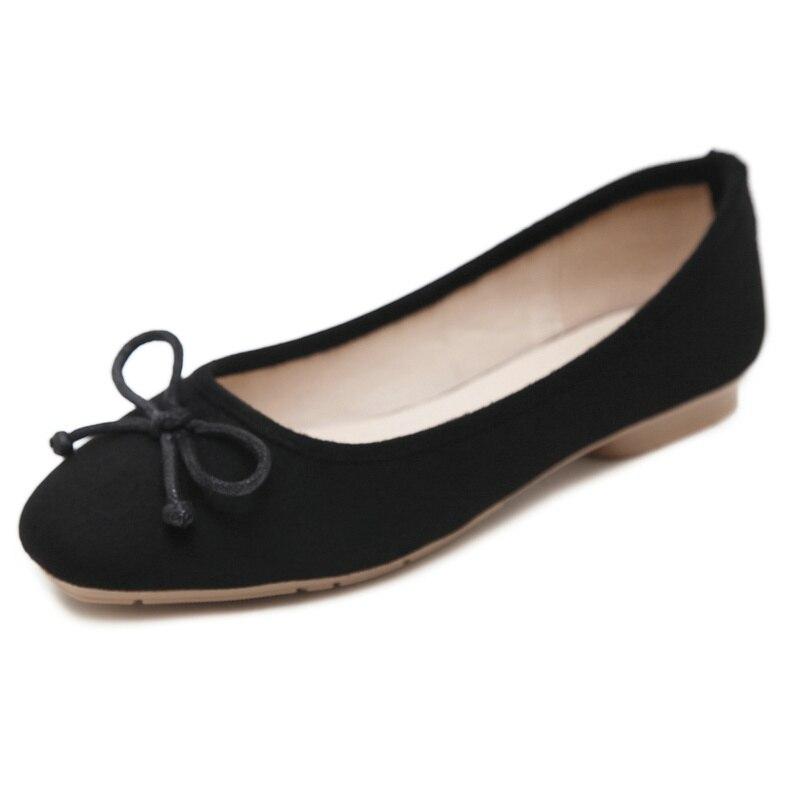 UMMEWALO ผู้หญิงหนังนิ่มหนังแบนรองเท้าผู้หญิง Loafers นุ่มผู้หญิงสบายสแควร์ Toe รองเท้าสบายรองเท้า-ใน รองเท้าส้นเตี้ยสตรี จาก รองเท้า บน   3